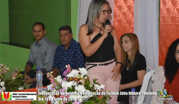Imagens da Inauguração da Reforma e Ampliação do Colégio Zélia Ribeiro Coutinho.