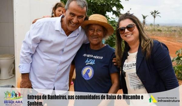 Imagens da ENTREGA DE BANHEIROS NAS COMUNIDADES DE BAIXA DO MUCAMBO E SONHEM.