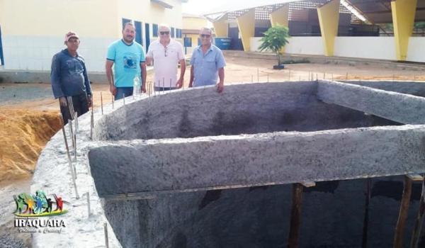 Imagens da Construção de Reservatório de Água - Colégio de Matinha do Cerco