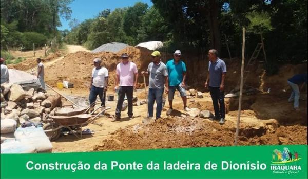 Imagens da Construção de Ponte em Ladeira de Dionísio