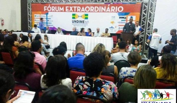 Imagens da EQUIPE TÉCNICA DA SEMEC - SECRETARIA MUNICIPAL DE EDUCAÇÃO, NO FÓRUM EXTRAORDINÁRIO DA UNDIME EM SALVADOR - BA.