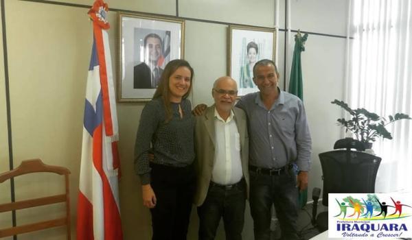 Prefeito de Iraquara participa de audiência com o Secretário Estadual Dr. César Lisboa.