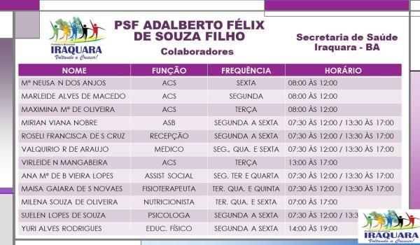 PSF ADALBERTO FÉLIX DE SOUZA FILHO