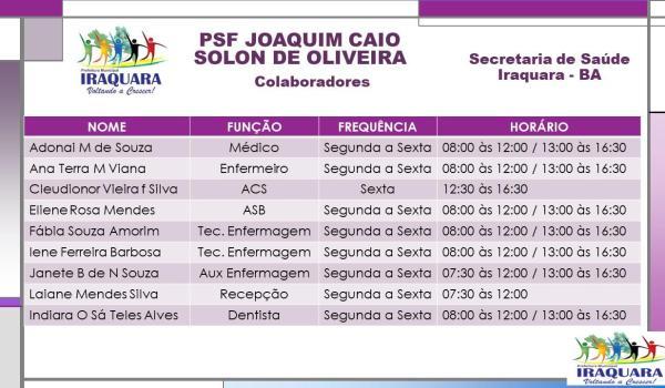 PSF JOAQUIM CAIO SOLON DE OLIVEIRA