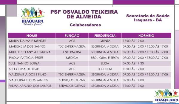 PSF OSVALDO TEIXEIRA DE ALMEIDA